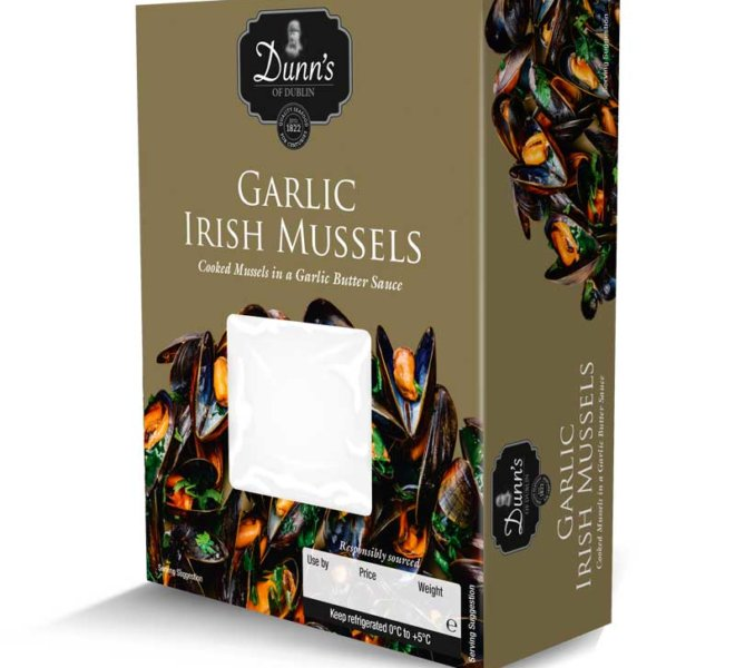 Dunns Mussels Product Packaging